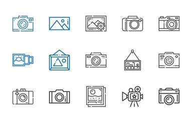 photographic icons set