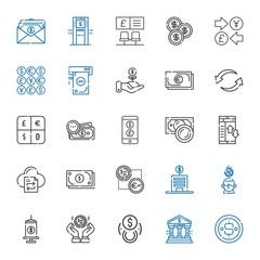 exchange icons set