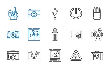 flash icons set