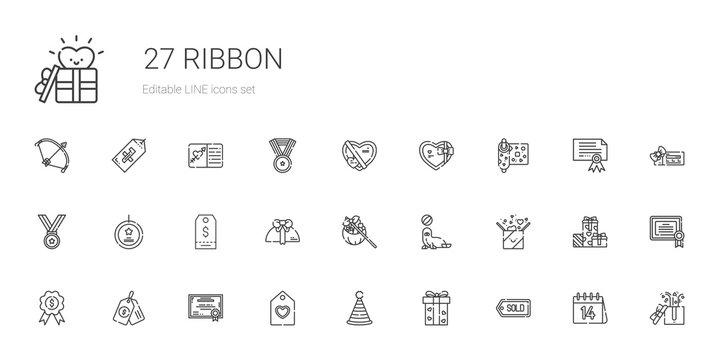 ribbon icons set