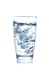 Glass of water on isolate background