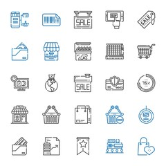 sale icons set