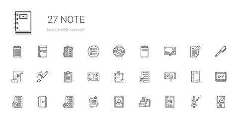 note icons set
