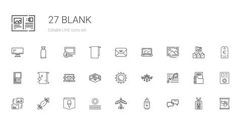 blank icons set