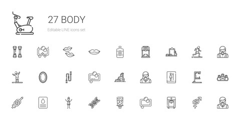 body icons set