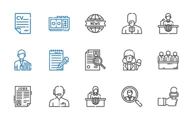 interview icons set