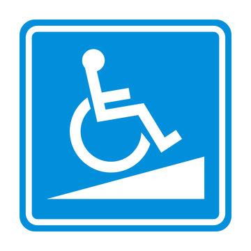 Wheelchair Ramp vector sign