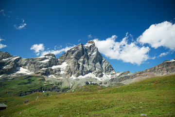 magnificent view of the majestic Mount of Matternhorn from the Italian side