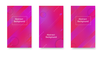 Creative cover in a minimalist style. Gradient, neon, lines, forms. Vector. Color geometric gradient, abstract background.