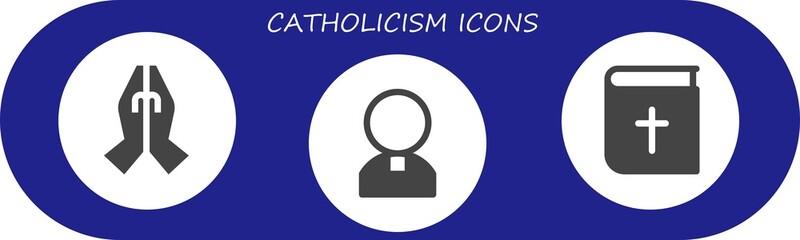 catholicism icon set