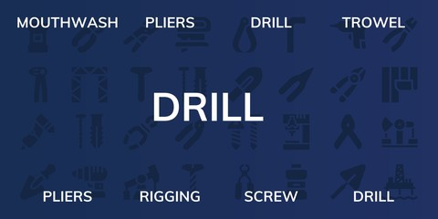 drill icon set