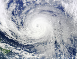 Satellite view. Hurricane over the Atlantics close to the US coast . Elements of this image furnished by NASA.