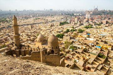 Mosque and Mausoleum of Shahin Al-Khalwati view over Cairo