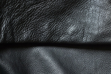 black leather fabric