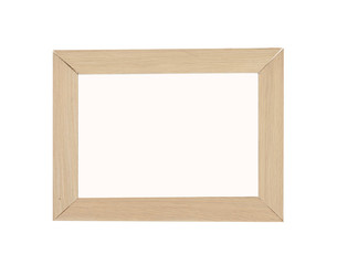 Peach decorative weathered square wood photo painting picture frame with empty isolated filling