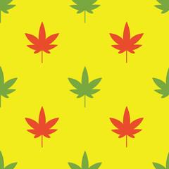 Vector weed rastaman  seamless pattern.