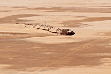 Ship wreck of Eduard Bohlen on Namibia's Skeleton Coast.