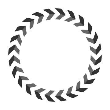 Chevron circle icon. Simple flat vector illustration