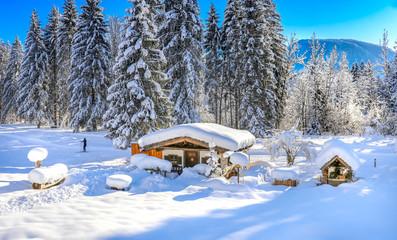 Langlaufen im Winter Paradies Wintersport Schnee Sonne Reit im Winkl Bayern