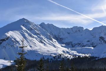 Tatry Tatrzański Park Narodowy zima TPN Góry Orla Perć