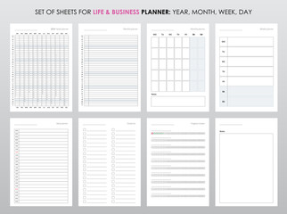 Project life and business planner with open date