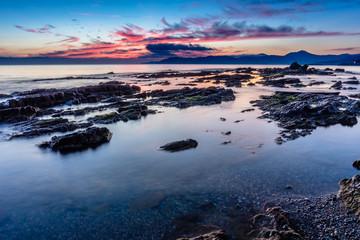 Sunrise at the Mediterranean Sea.