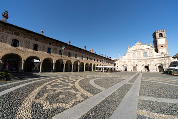 Vigevano, italy: the historic Piazza Ducale