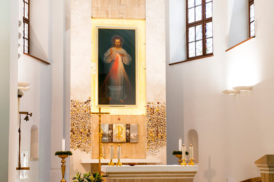 The first Divine Mercy image in the Holy Trinity Church in Vilnius, Lithuania.