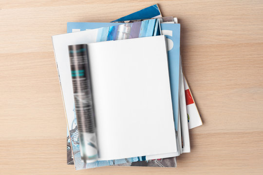 Mock-up magazine or catalog. Blank page.