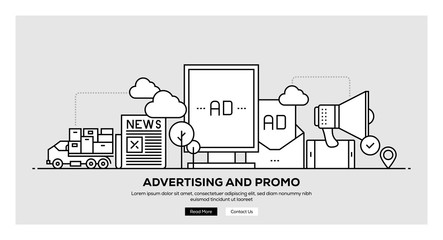 ADVERTISING AND PROMO BANNER CONCEPT