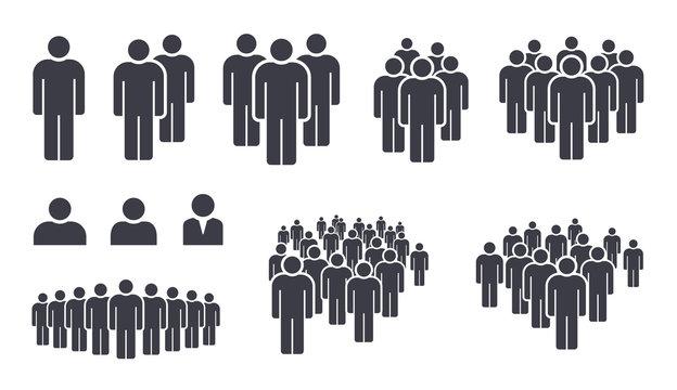 People crowd team symbol icons