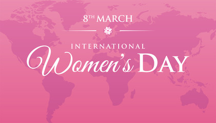 Pink Women's Day Background