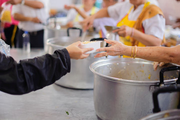 Helping the poor to enjoy eating delicious food