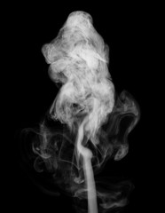 white smoke isolated on black background, abstract powder, water spray, Add smoke effect