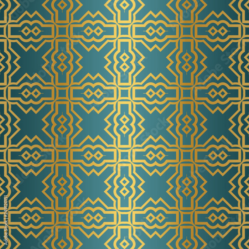 Geometric Seamless Pattern Modern Ornament Vector Illustration