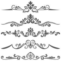 Vintage floral dividers set