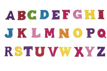 Handmade multicolor (small) Felt letters Font