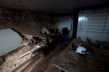An office is seen in a collapsed tailings dam owned by Brazilian mining company Vale SA, in Brumadinho