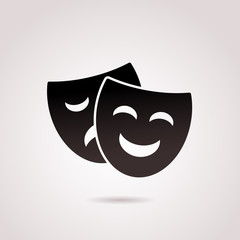 Ancient, greek mask vector icon.