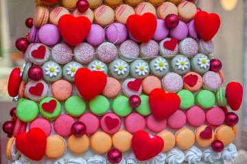 Tasty cake for romantic Valentine Day