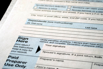 Individual Income Taxes 1040 Form