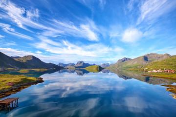 Fotomurales - Lofoten Islands landscape
