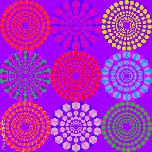 Colorful vector pattern with geometric shapes  Collection of