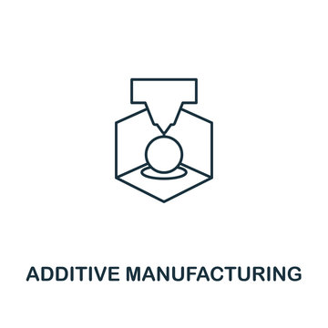 Additive Manufacturing icon. Thin line style industry 4.0 icons collection. UI and UX. Pixel perfect additive manufacturing icon for web design, apps, software usage
