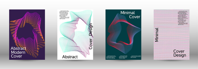 Minimal vector cover design with  linear waves.