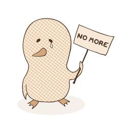 sad chicken and no more message