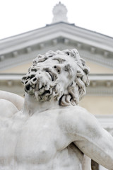 Statue of Laocoon and his Sons, the Laocoon Group, monumental marble sculpture. Statue in municipal park of Odessa near Archaeological Museum