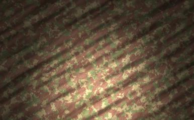 military combat dazzle camouflage textile cotton with spot light effect