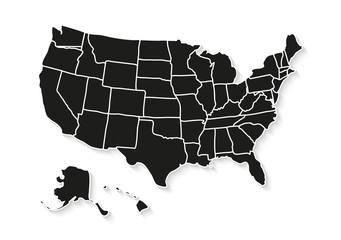 USA map isolated on white background