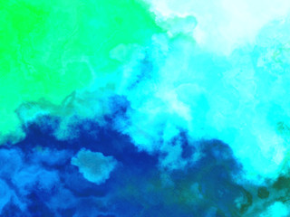 Abstract Digital watercolor. Modern and contemporary artwork. coral reef and the sea